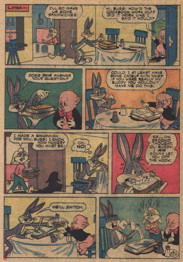 Cooking Made Uneasy (From Bugs Bunny #167 Oct 1975)