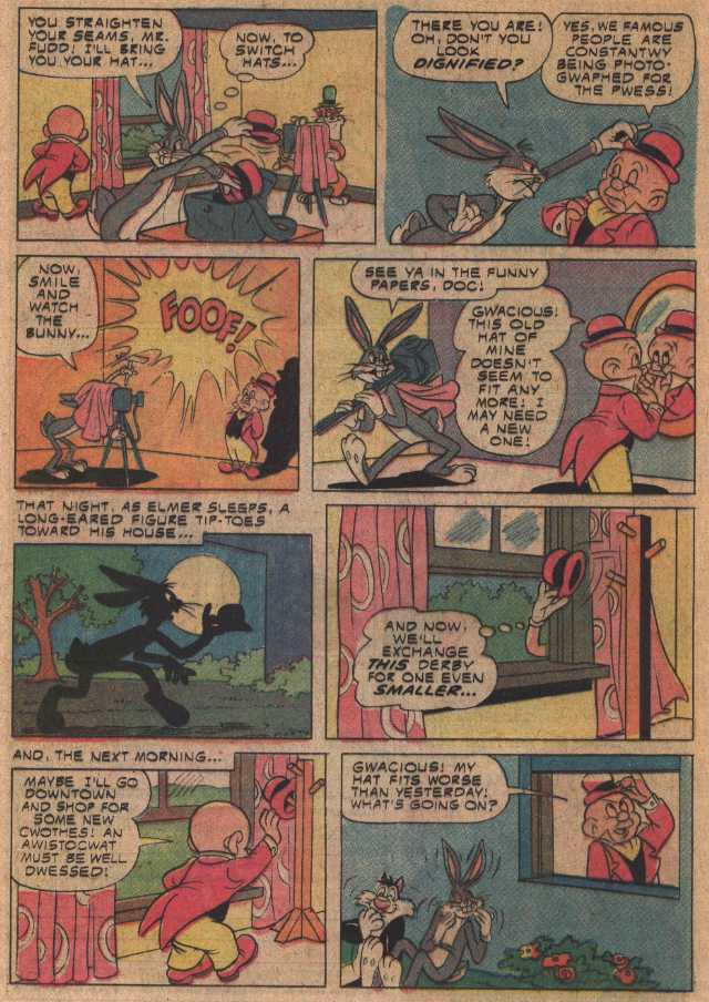Swell Fellow Fudd (From Bugs Bunny #163 May, 1975)