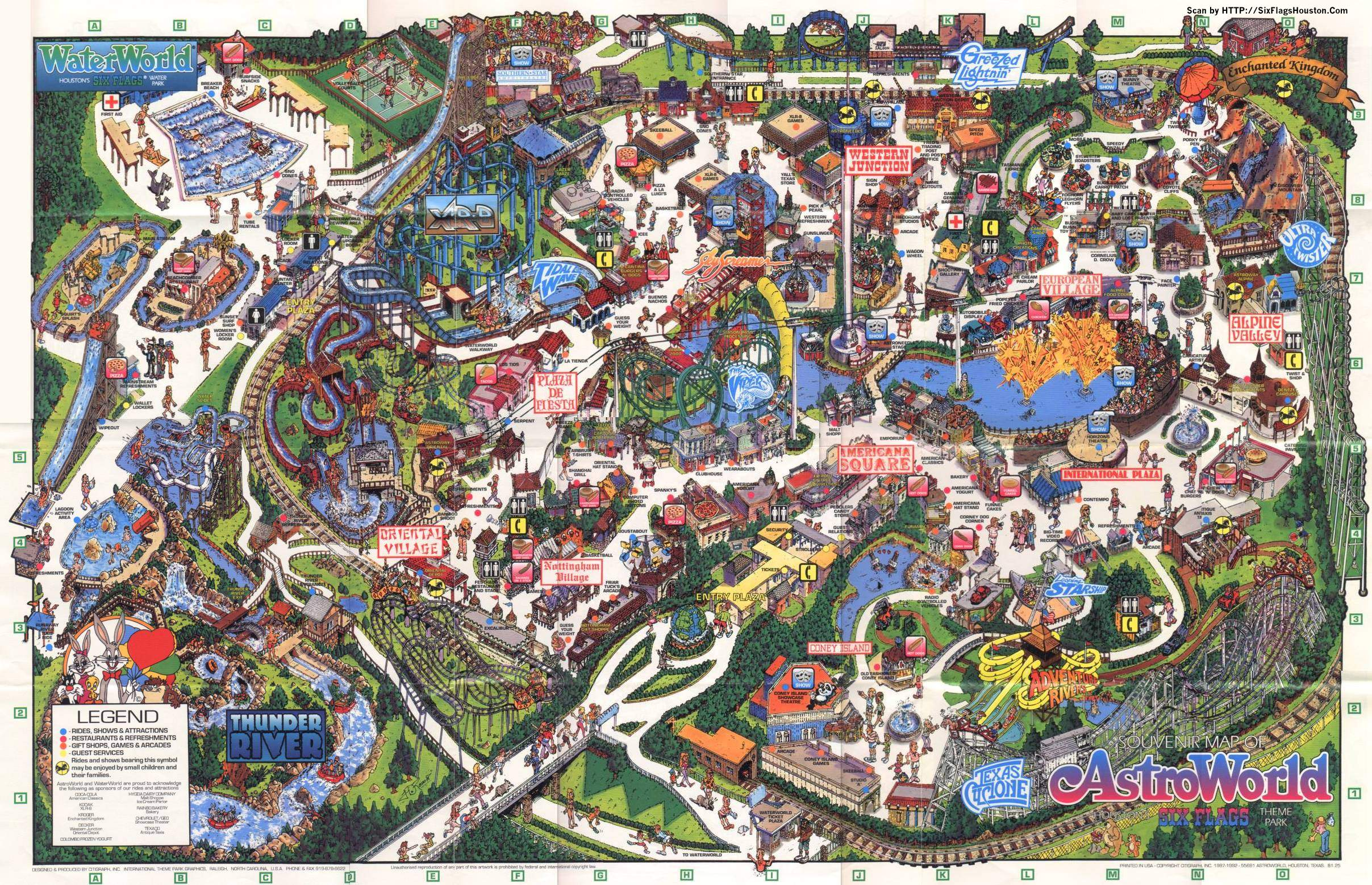 Six Flags Astroworld 1992