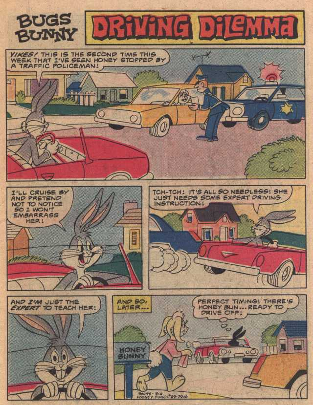 Driving Dilemma (From Looney Tunes #29, December, 1979)