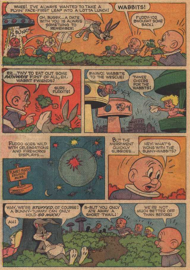 The Feast on Planet Fuddo (From Bugs Bunny #117 May, 1968)