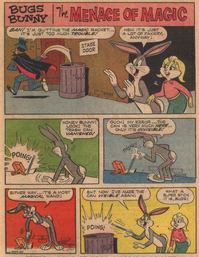 The Menace of Magic (From Bugs Bunny #112, July 1967)