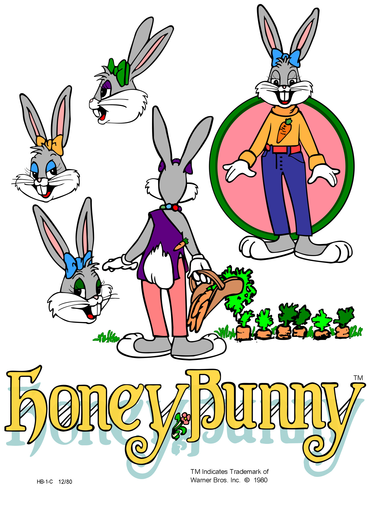 Honey Bunny model sheet