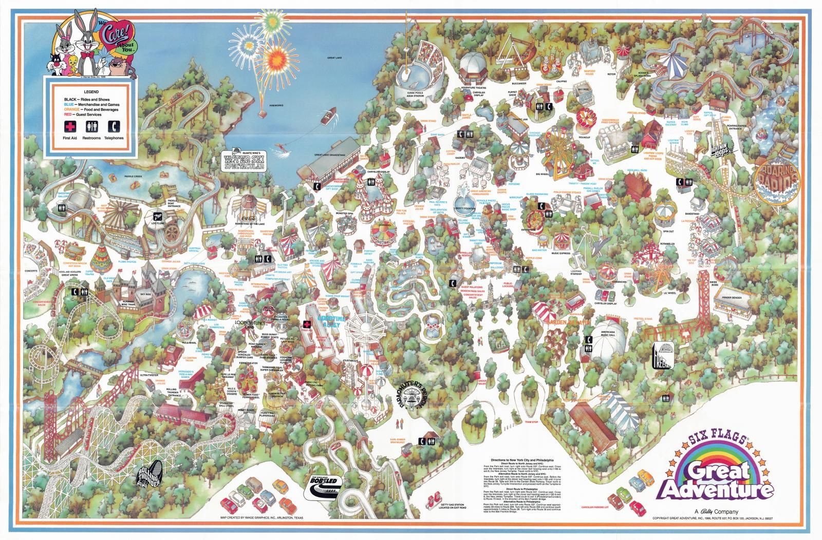 Six Flags Great Adventure 1986 :: Honey Bunny - a very ... on six flags nj map, magic springs and crystal falls map, dorney park map, washington street mall map, kingda ka map, mt. olympus water & theme park map, kiddieland map, kennywood map, holiday world santa claus indiana map, the gallery at market east map, penn hills resort map, knott's berry farm map, magic kingdom map, 2014 six flags magic mountain map, great america map, cedar point map, thorpe park map, wyandot lake map, big e fair map, 2014 six flags over georgia map,